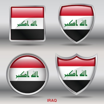 Irak vlag schuine vormen pictogram