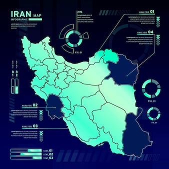 Iran kaart infographics