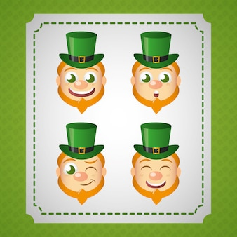 Irish leprechaun set, st patricks dag