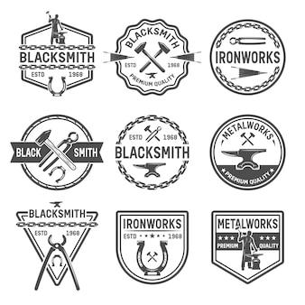 Ironworks zwarte emblemen
