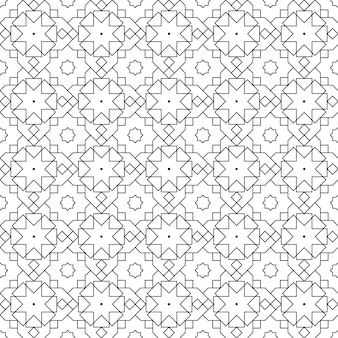 Islamitisch geometrisch naadloos patroonbehang als achtergrond in luxe batikstijl