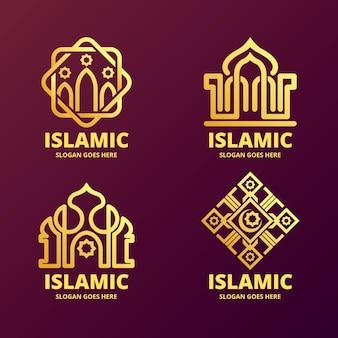 Islamitisch logo set met moskee