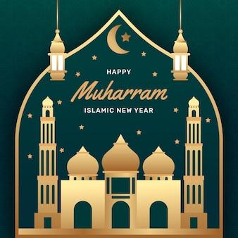 Islamitisch nieuwjaar met kasteel