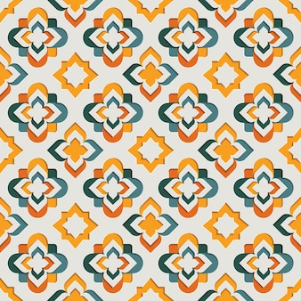Islamitisch oosters sier arabesk naadloos patroon. oost-motief papier stijl achtergrond