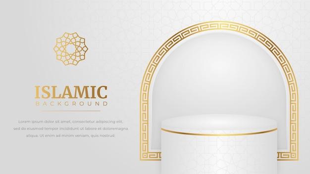 Islamitisch podium in luxe gouden stijl
