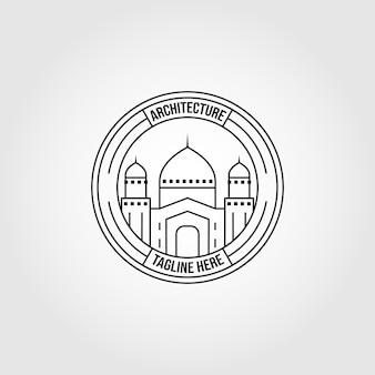 Islamitisch symbool logo lijn kunst vector illustratie ontwerp