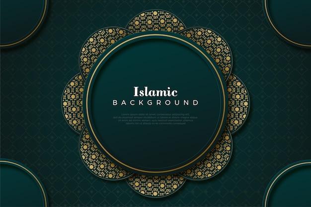 Islamitische achtergrond met eenvoudig cirkelornament.