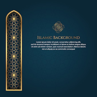 Islamitische arabische stijl luxe sieraad achtergrond