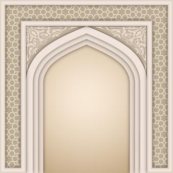 Islamitische boog ontwerpsjabloon