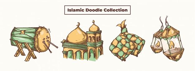 Islamitische doodle collectie