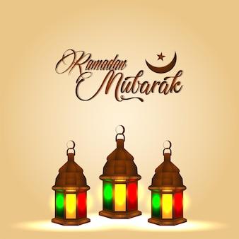 Islamitische festival ramadan kareem viering wenskaart