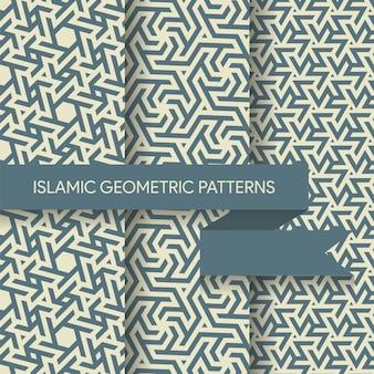 Islamitische geometrische patronen achtergronden collectie