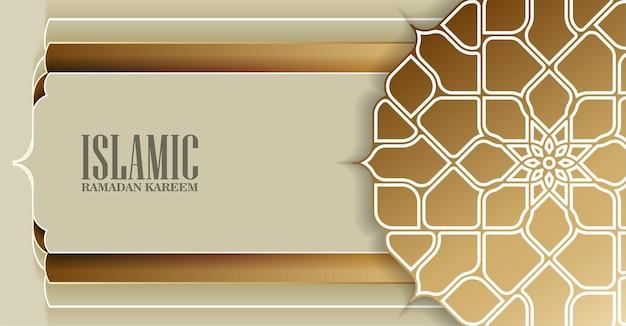Islamitische gouden mandala