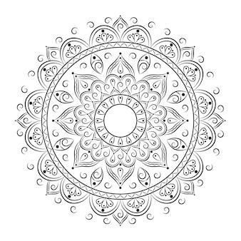 Islamitische mandala schets om in te kleuren
