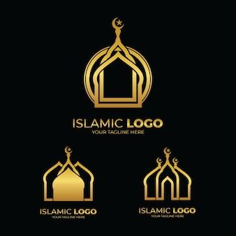 Islamitische moskee logo ontwerpinspiratie