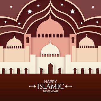 Islamitische nieuwjaar papierstijl