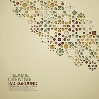 Islamitische ontwerp wenskaartsjabloon achtergrond met decoratieve kleurrijke van mozaïek