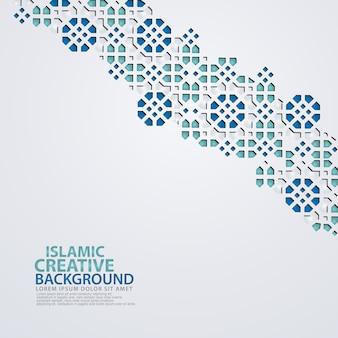 Islamitische ontwerp wenskaartsjabloon achtergrond