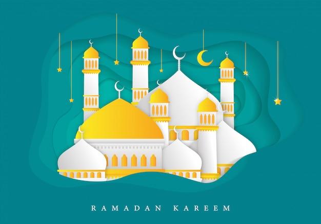 Islamitische ramadan kareem achtergrond
