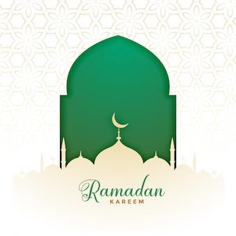 Islamitische ramadan kareem moslimfestivalachtergrond