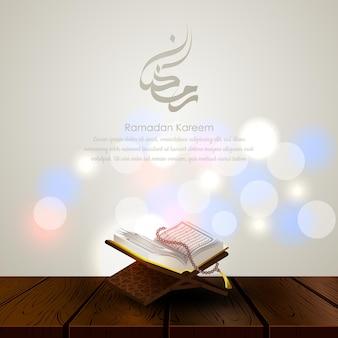 Islamitische ramadan kareem-wenskaart