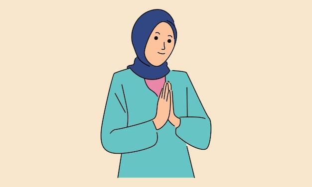 Islamitische vrouwen dragen hijab