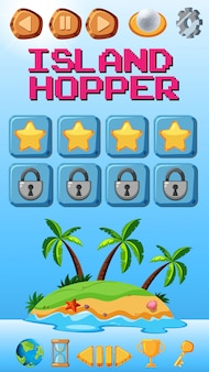 Island hopper game sjabloon