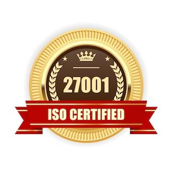 Iso 27001-gecertificeerde medaille - beheer van informatiebeveiliging