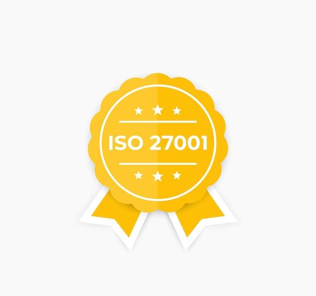 Iso 27001, informatiebeveiligingsnorm, badge.