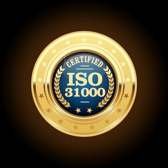 Iso 31000-standaardmedaille - risicobeheer