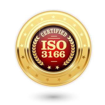 Iso 3166 gecertificeerde medaille - landcodes