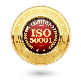 Iso 50001 gecertificeerde medaille - energiebeheer