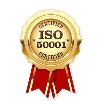 Iso 50001 standaard gecertificeerde medaille