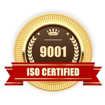 Iso 9001 gecertificeerde medaille - kwaliteitsmanagement