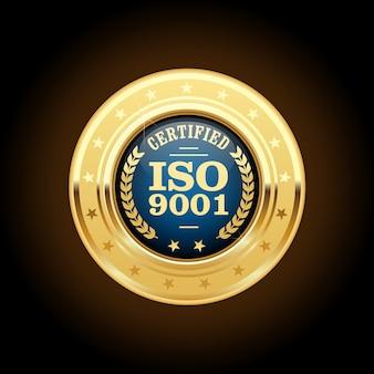 Iso 9001 standaard gecertificeerde medaille