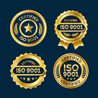 Iso-certificering badge-collectie