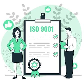 Iso-certificering concept illustratie