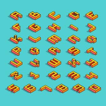 Isometic-lettertype