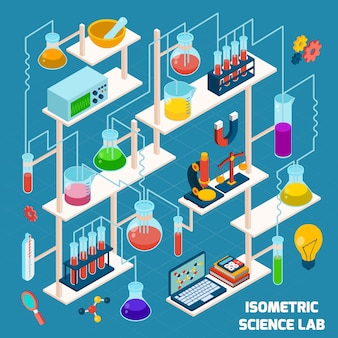 Isometric science lab