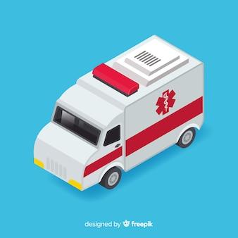 Isometrisch ambulanceontwerp