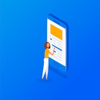 Isometrisch arts online concept