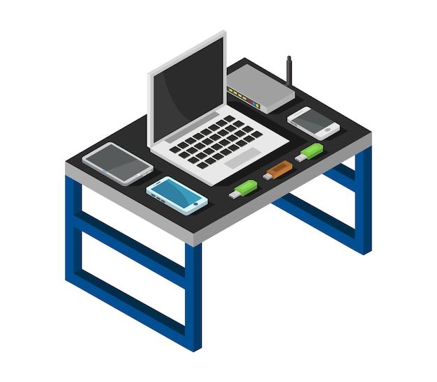 Isometrisch bureau