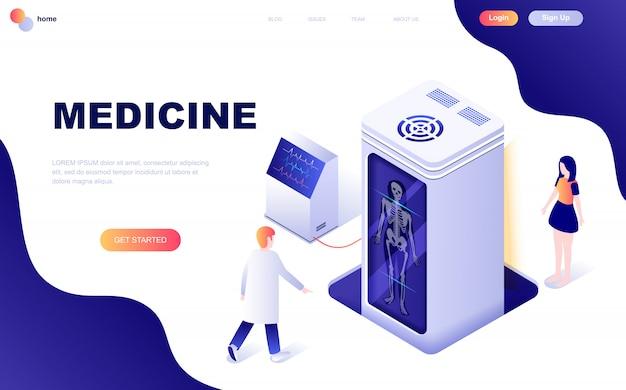 Isometrisch concept van geneeskunde en gezondheidszorg