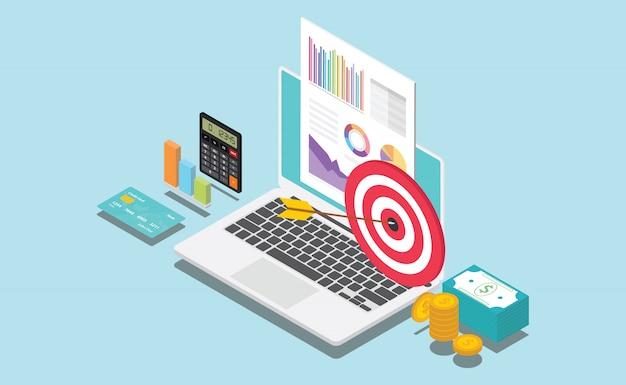 Isometrisch financieel bedrijf of persoonlijk doel