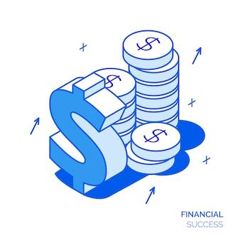 Isometrisch financieel concept