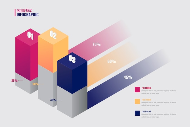 Isometrisch infographic verzamelingsthema