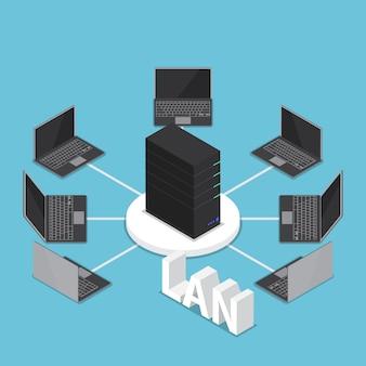 Isometrisch lan-netwerkdiagram