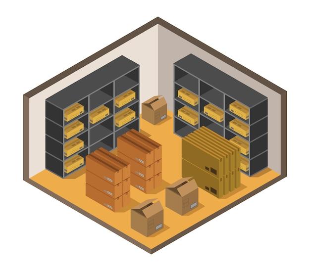Isometrisch magazijn