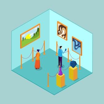 Isometrisch museuminterieur
