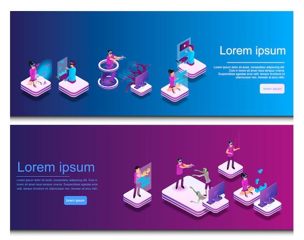 Isometrisch online communiceren, virtueel gamen